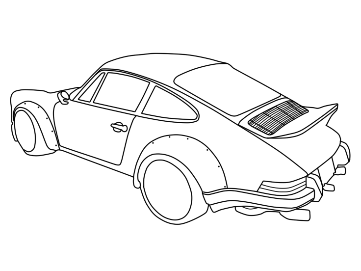 porsche 911 drawing at getdrawings com