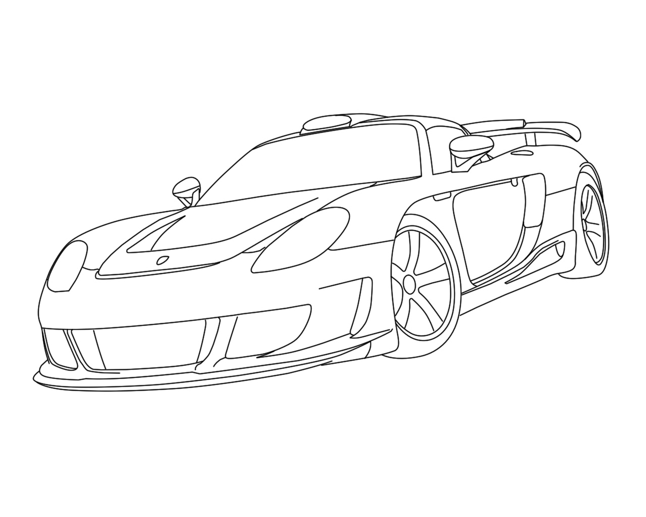 porsche 911 drawing at getdrawings  free download