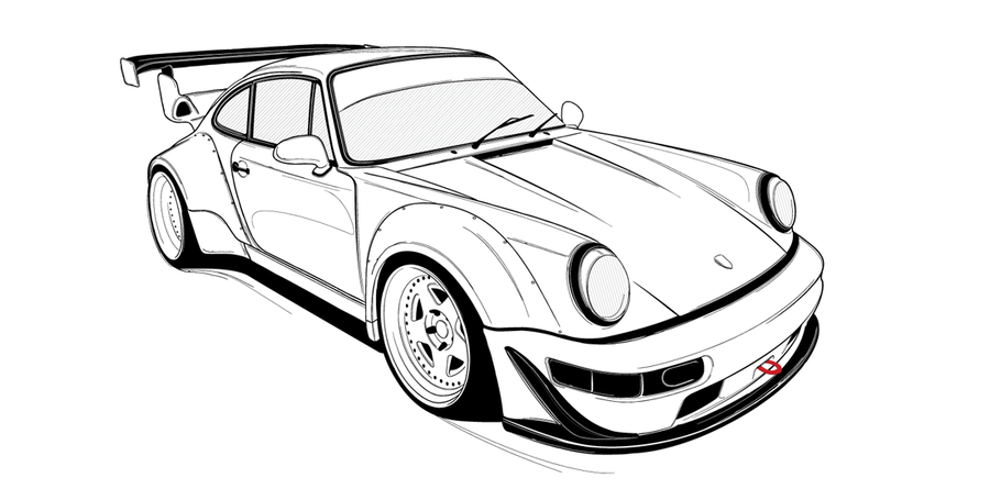 Porsche 911 Drawing At Getdrawings Com Free For Personal