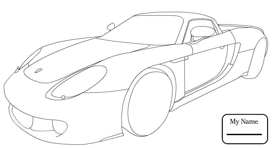 948x514 Porsche 918 Spyder Transport Coloring Pages