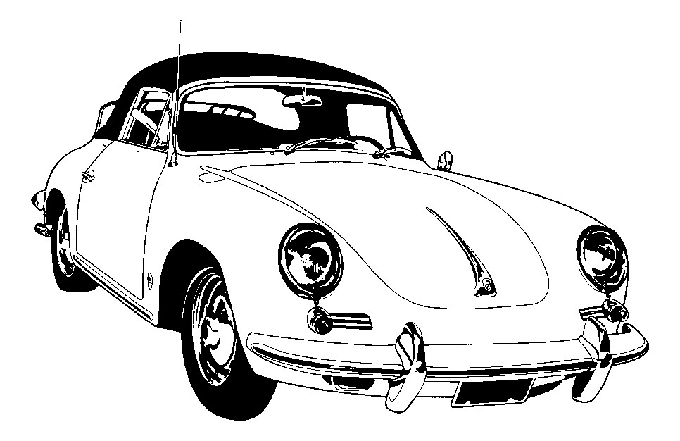 966x626 Porsche 356 1963 1965, Seat Fnt Set, Leather, 920 Navy, Plain