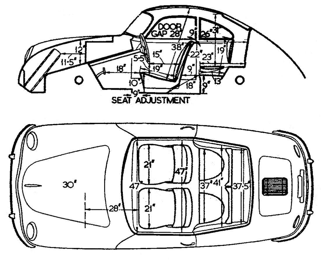 Porsche Line Drawing