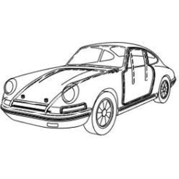 600x600 Porsche Weather Strip Kit, Body Amp Bumper Kit, 1969 73 911,912