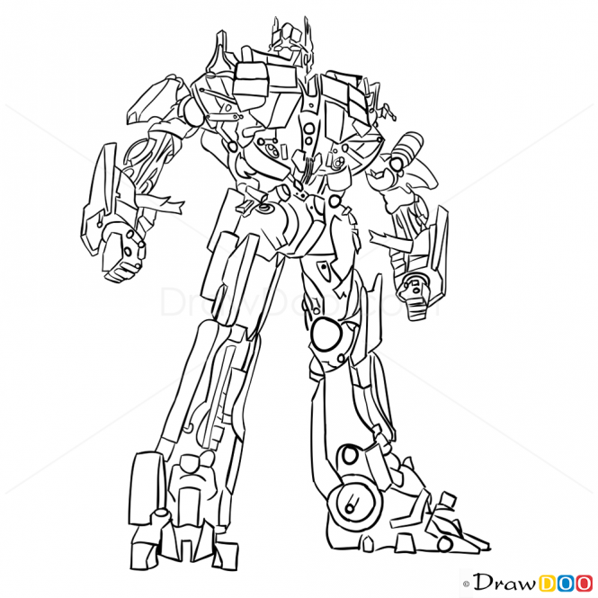 665x665 How To Draw Optimus Prime, Transformers