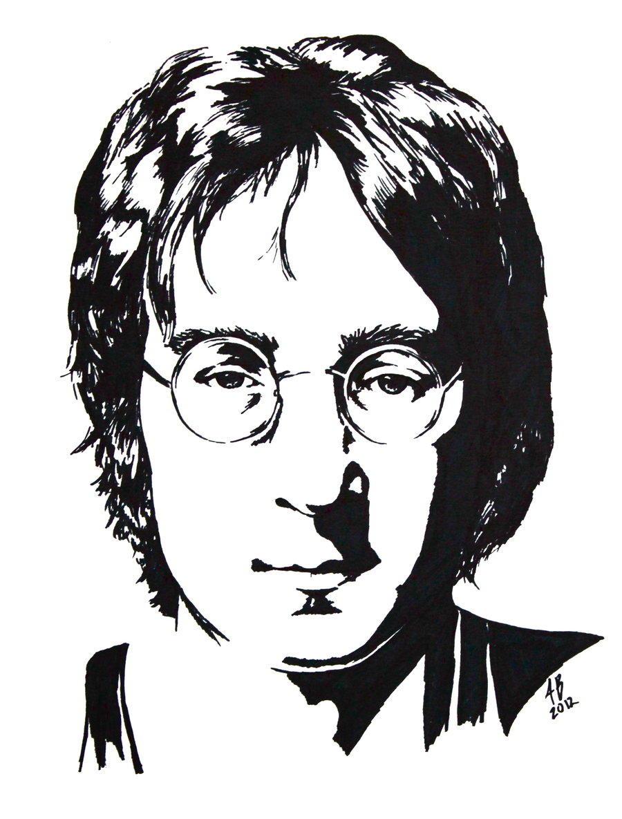 900x1185 John Lennon Black And White Study By Audgeon58