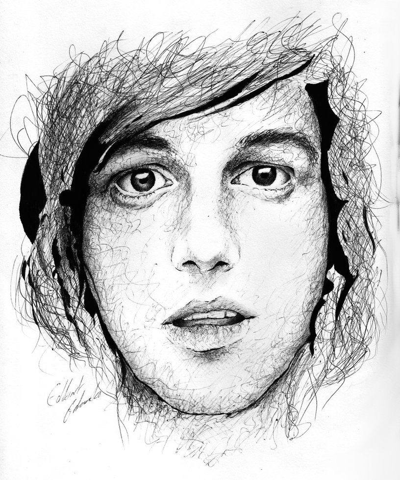 816x979 Kellin Quinn Portrait With Ballpoint Pen By Edong12345