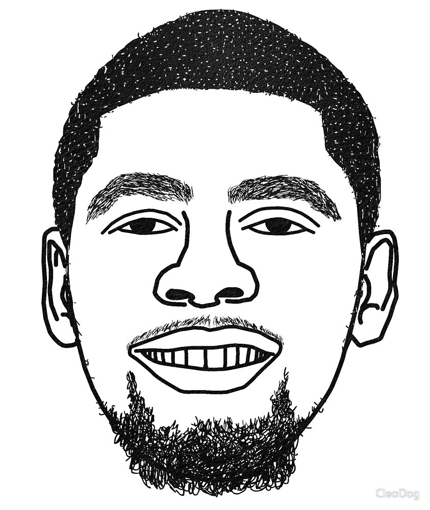 843x1000 Kyrie Irving Cold Chilling Boston Celtics Minimalist Black