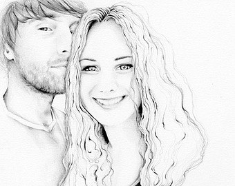 340x270 Wedding Drawing Etsy