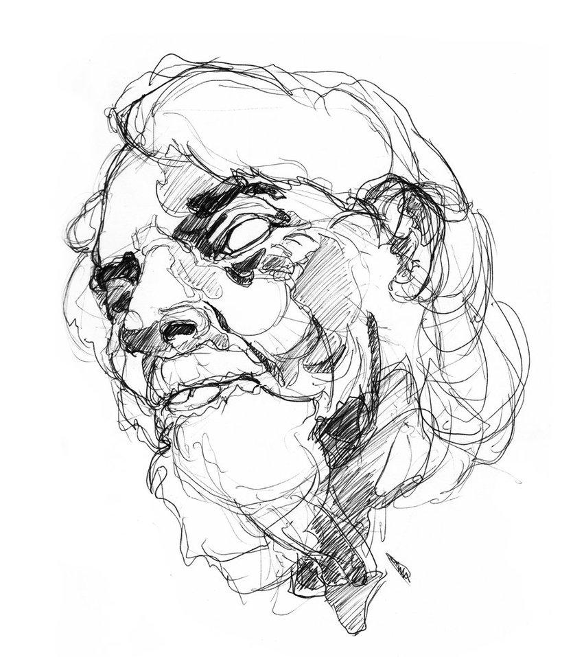 835x957 Outline + Tone Aged Portrait By Ziinyu