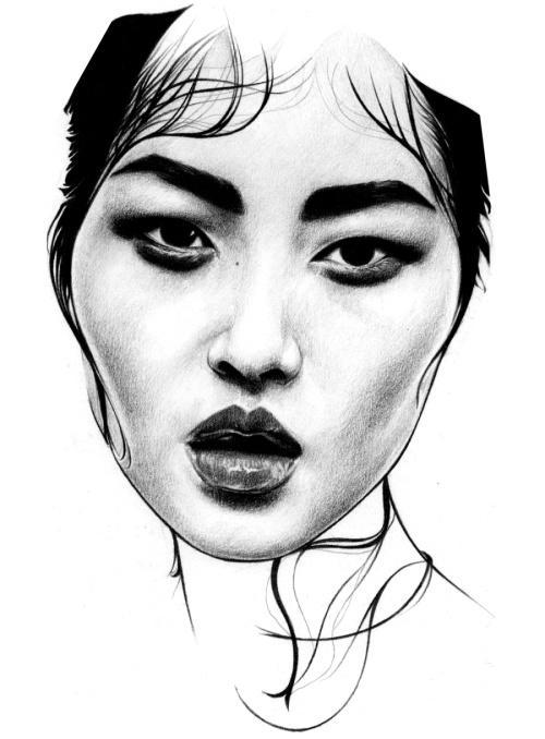 500x678 Portrait, Illustration, Face Les Artistes Portrait