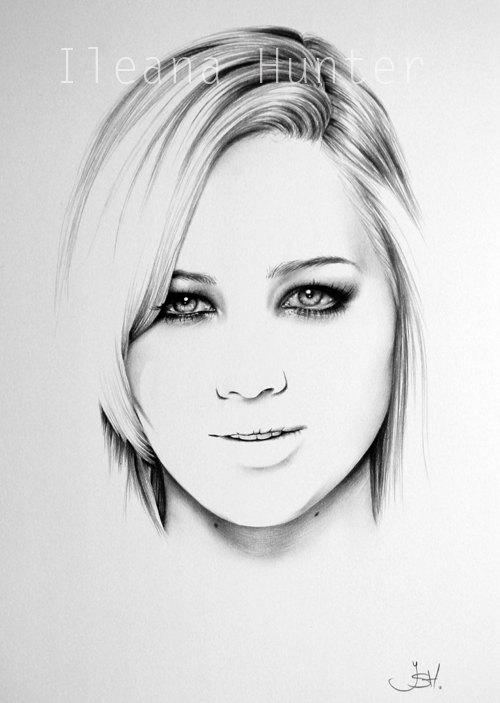 500x703 Jennifer Lawrence Pencil Drawing Fine Art Portrait By Ileanahunter