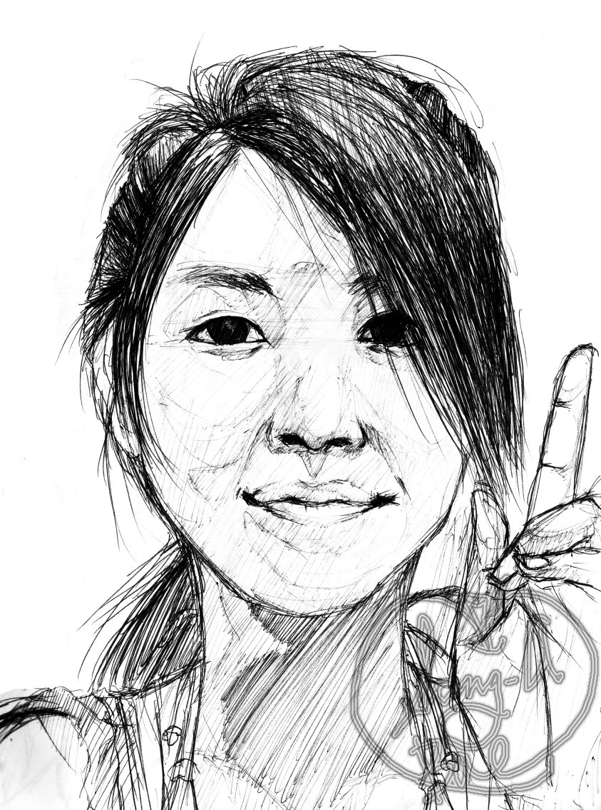 843x1137 Pen Portrait Drawing 2 By Dygariad