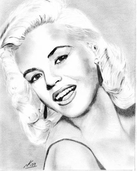 441x550 Portrait Of Jayne Mansfield By 11mk11 On Stars Portraits