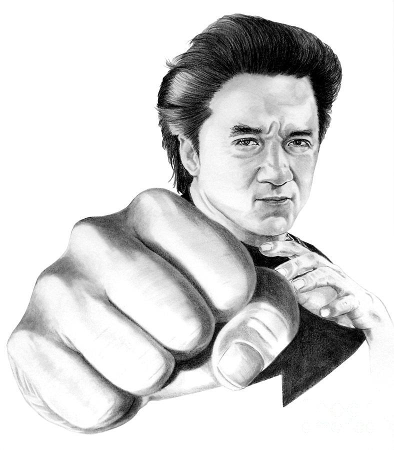 788x900 Jackie Chan Drawing By Murphy Elliott