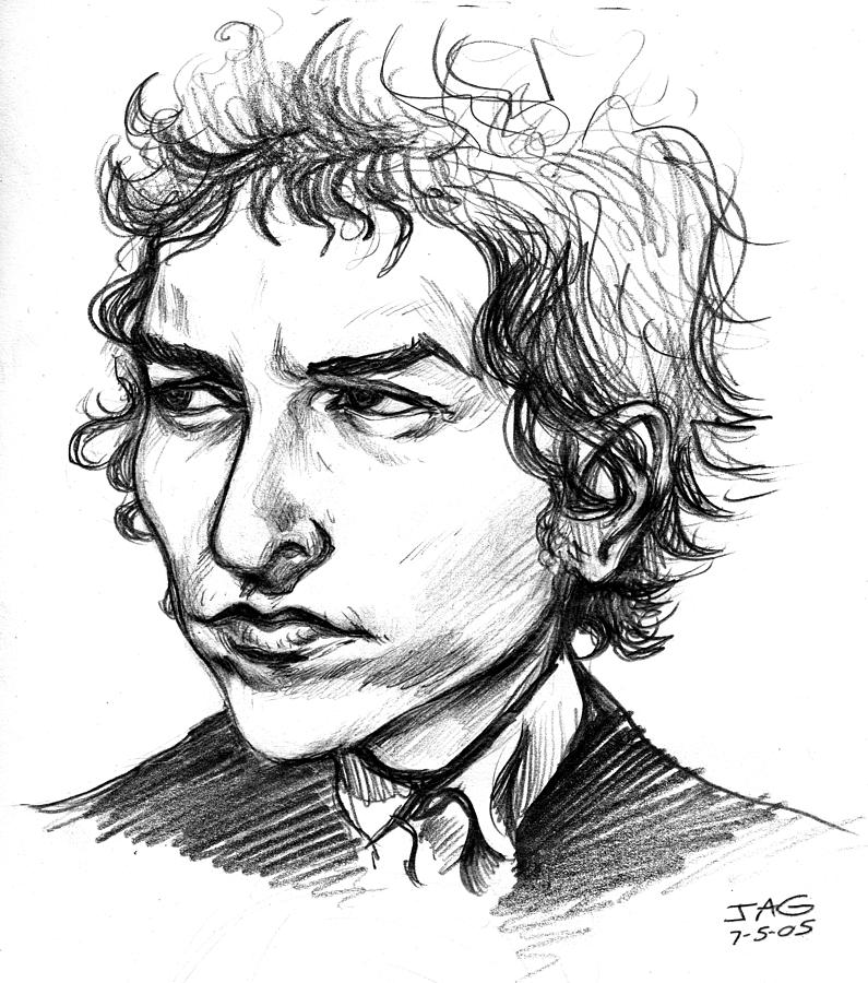 795x900 Bob Dylan Sketch Portrait Drawing By John Ashton Golden