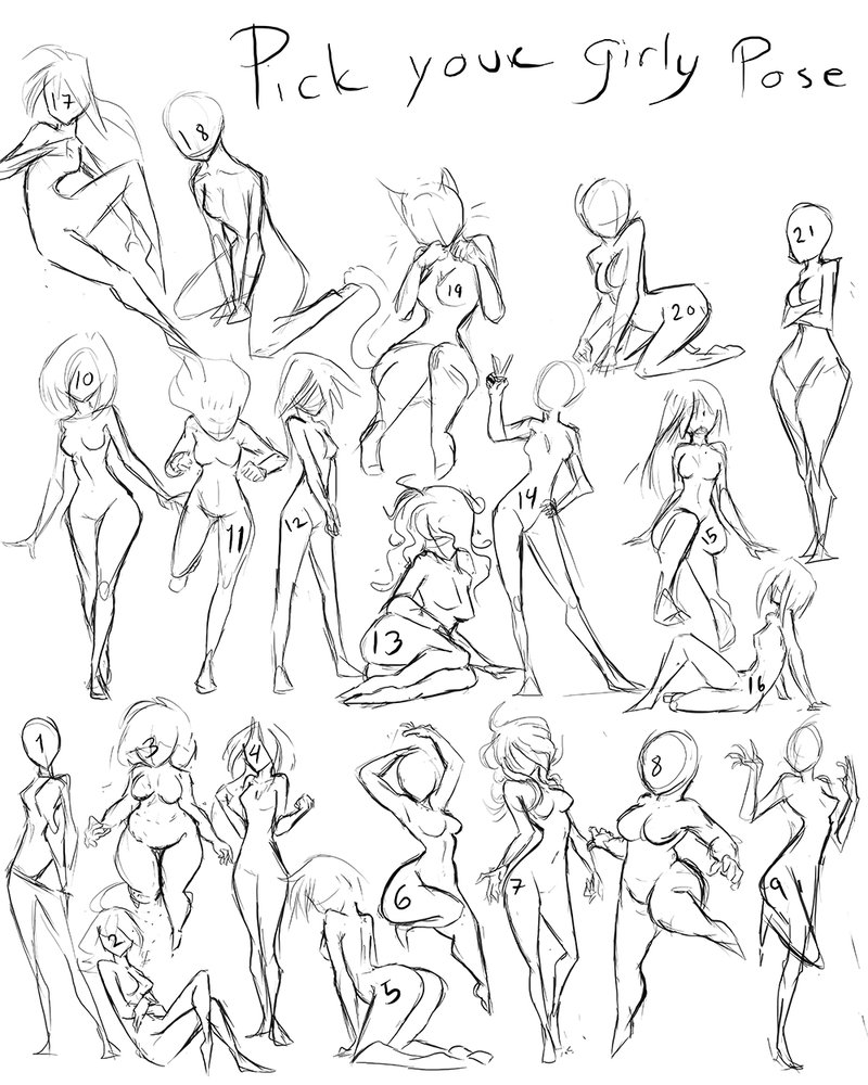 800x1000 Pick Your Pose Sketch Commission By Greyanimebeast