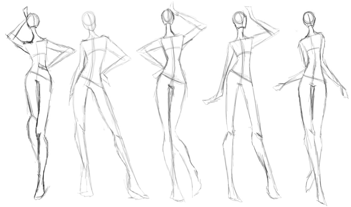 1165x686 Pose Sketch Dump X.x By Gloomers