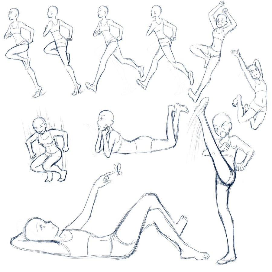 900x900 Anime Poses Drawing Anime Poses Drawing 158 Best Anime Poses