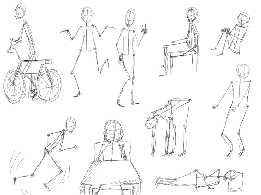 900x675 Poses Sketch By Tsatsuke