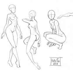 250x250 Scribble Gesture Stick Figure Drawings