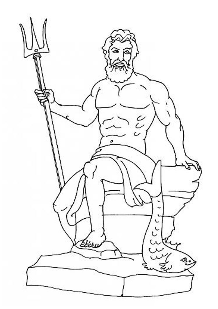 749x1060 Poseidon High Quality Drawing Drawing Skill