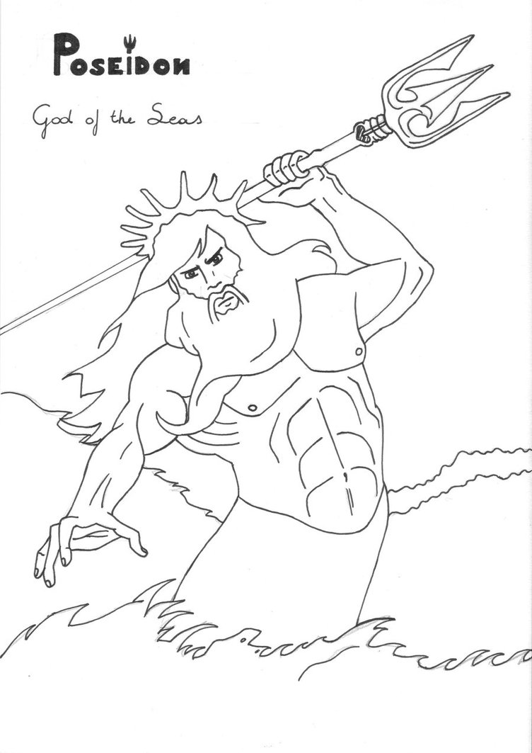 The Best Free Poseidon Drawing Images Download From 146