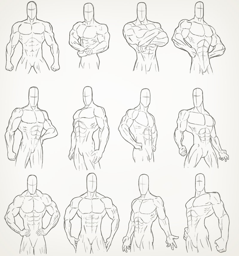 It's just a picture of Slobbery Muscular Guy Drawing