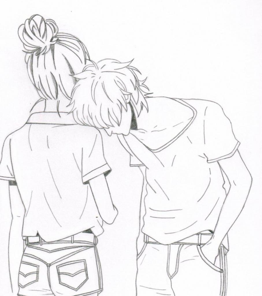 907x1024 Tumblr Cartoon Drawings Cartoon Cute Couple Drawing Tumblr Showing