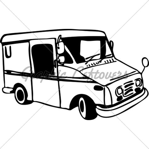 474x474 Mail Carrier Truck Coloring Page Post Office
