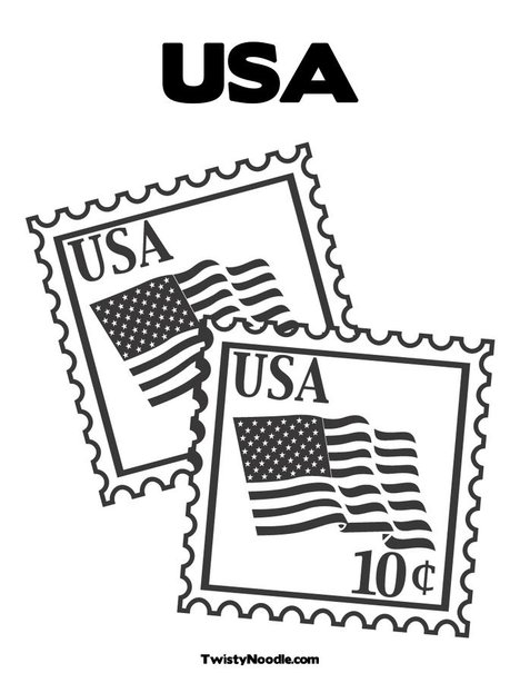 468x605 Postage Stamp Coloring Pages