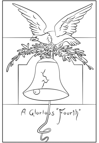 333x480 A Glorious Fourth Postcard Coloring Page Free Printable Coloring