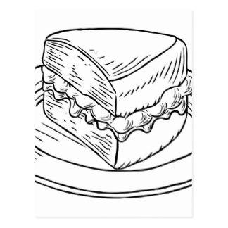 324x324 Drawing Of Cake Postcards Zazzle