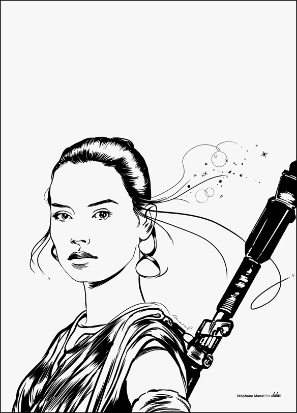 584x812 Star Wars The Force Awakens Rey Poster Star, Chewbacca Backpack