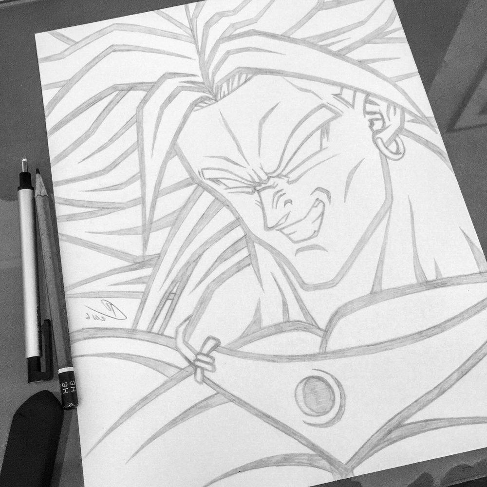 1000x1000 Dragon Ballz Face Pencil Drawing Orozco Ball Z