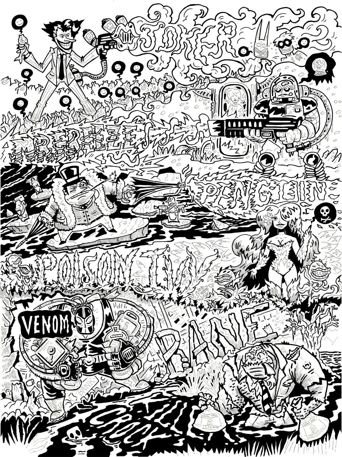 1197x1600 Pretty Weird Art Batman Poster Inks