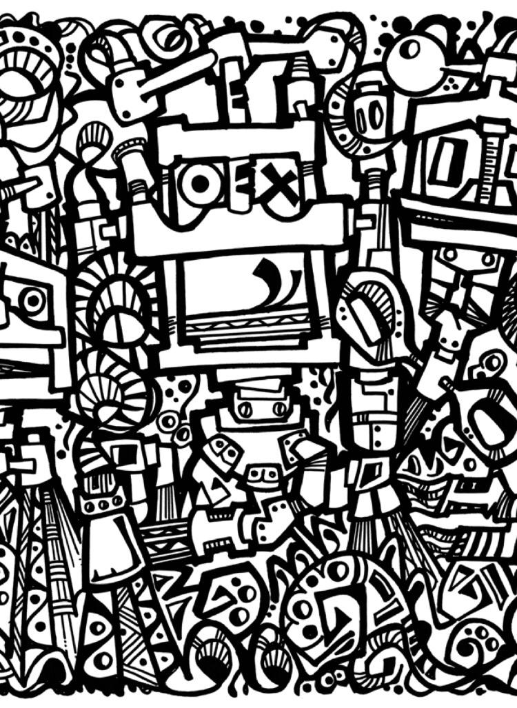 750x1027 Clunkydoodles Robotsampbookbinding Doodles. Popart. Graffiti. Art