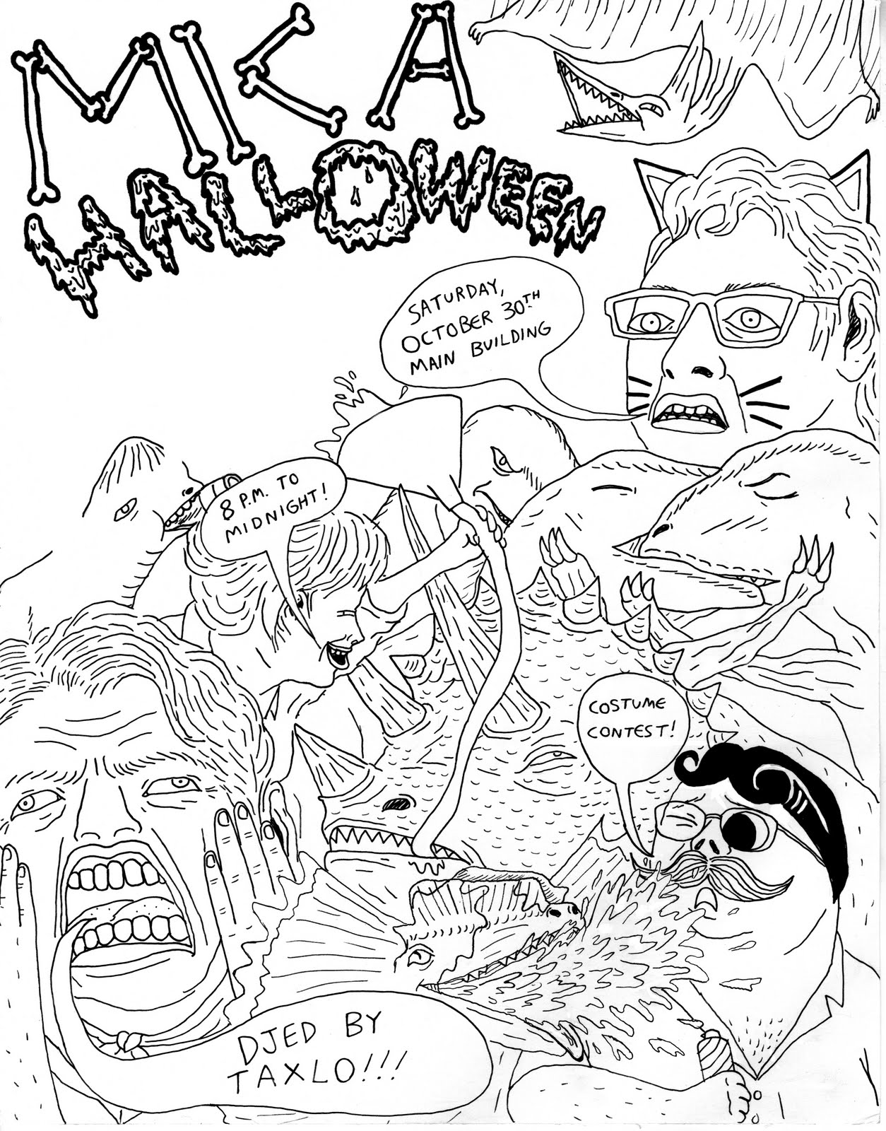 1254x1600 The Drawings Of Will Laren Mica Halloween Poster Design
