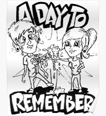 210x230 A Day To Remember Drawing Posters Redbubble
