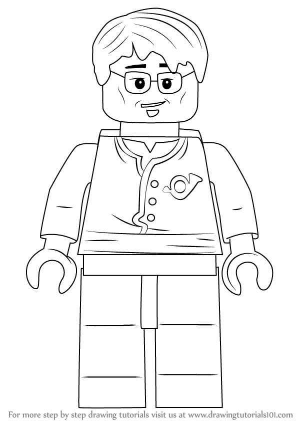 598x844 Learn How To Draw Postman From Ninjago (Ninjago) Step By Step