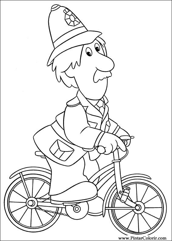 567x794 Drawings To Paint Amp Colour Postman Pat