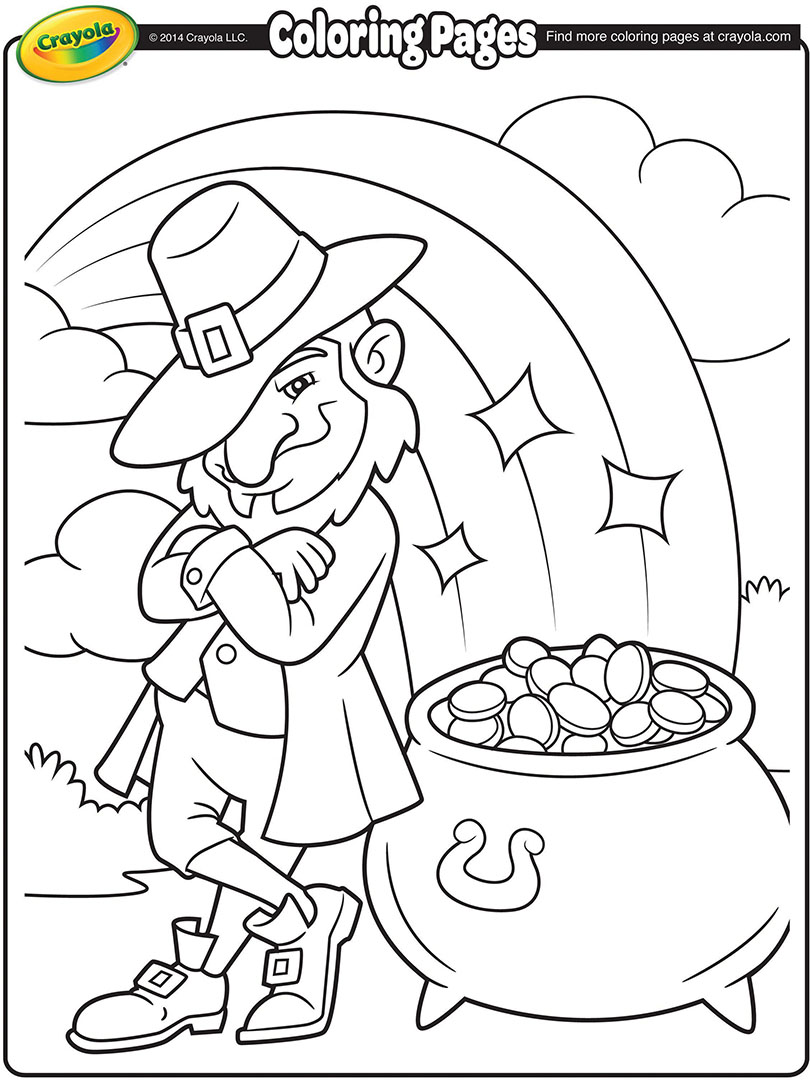 810x1080 Leprechaun's Pot Of Gold Coloring Page