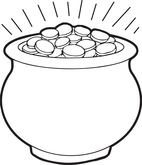 472x550 Pot Of Gold Coloring Page Preschool For Fancy Draw Dringrames