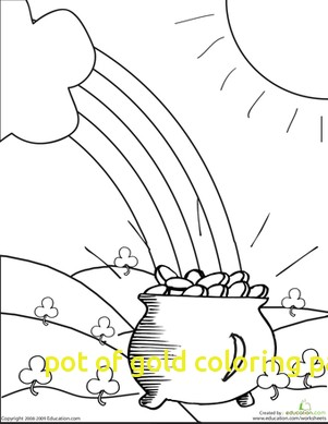 301x389 Pot Of Gold Coloring Page With Pot Of Gold Worksheet