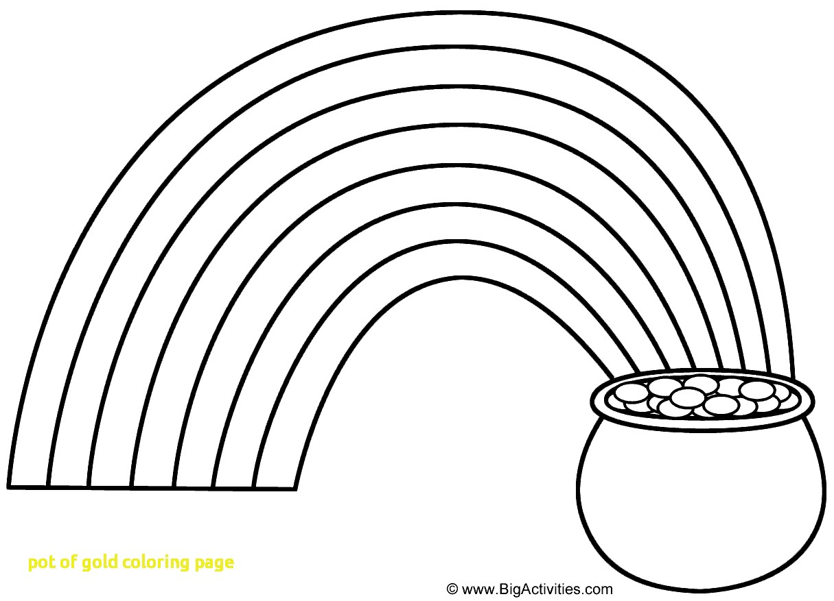 1215x877 Pot Of Gold Coloring Page With Rainbow And Pot Of Gold Coloring