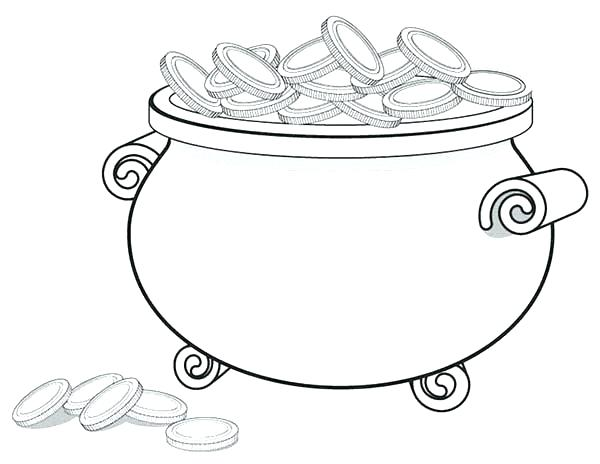 600x464 Pot Of Gold Coloring Pages Pot Of Gold Coloring Pages A Giant Pot