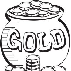 234x234 Pot Of Gold Coloring Pages