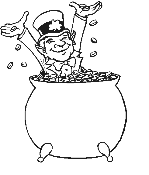 490x573 Pot Of Gold Coloring Page Amp Coloring Book