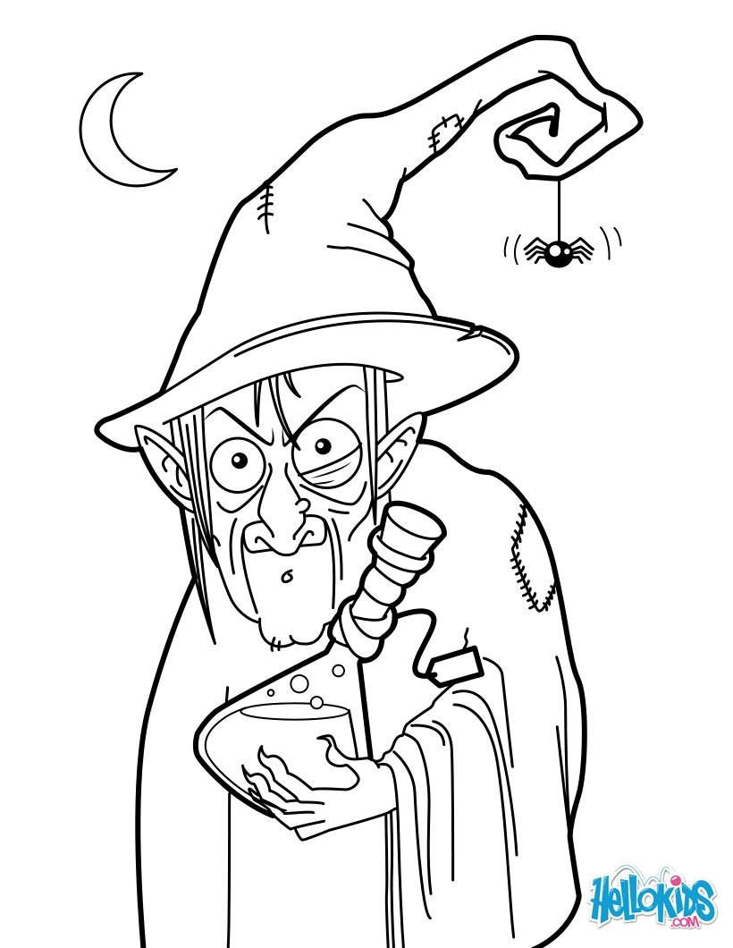 820x1060 Witch Potion Coloring Pages