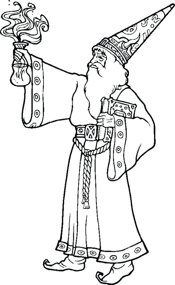 600x978 Wizard Coloring Pages The Wizard Bring Magic Potion Coloring Pages