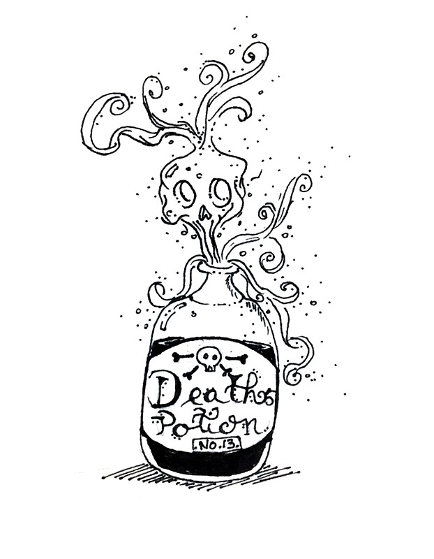 622x800 Death Potion No.13 Stickers By Enami Redbubble
